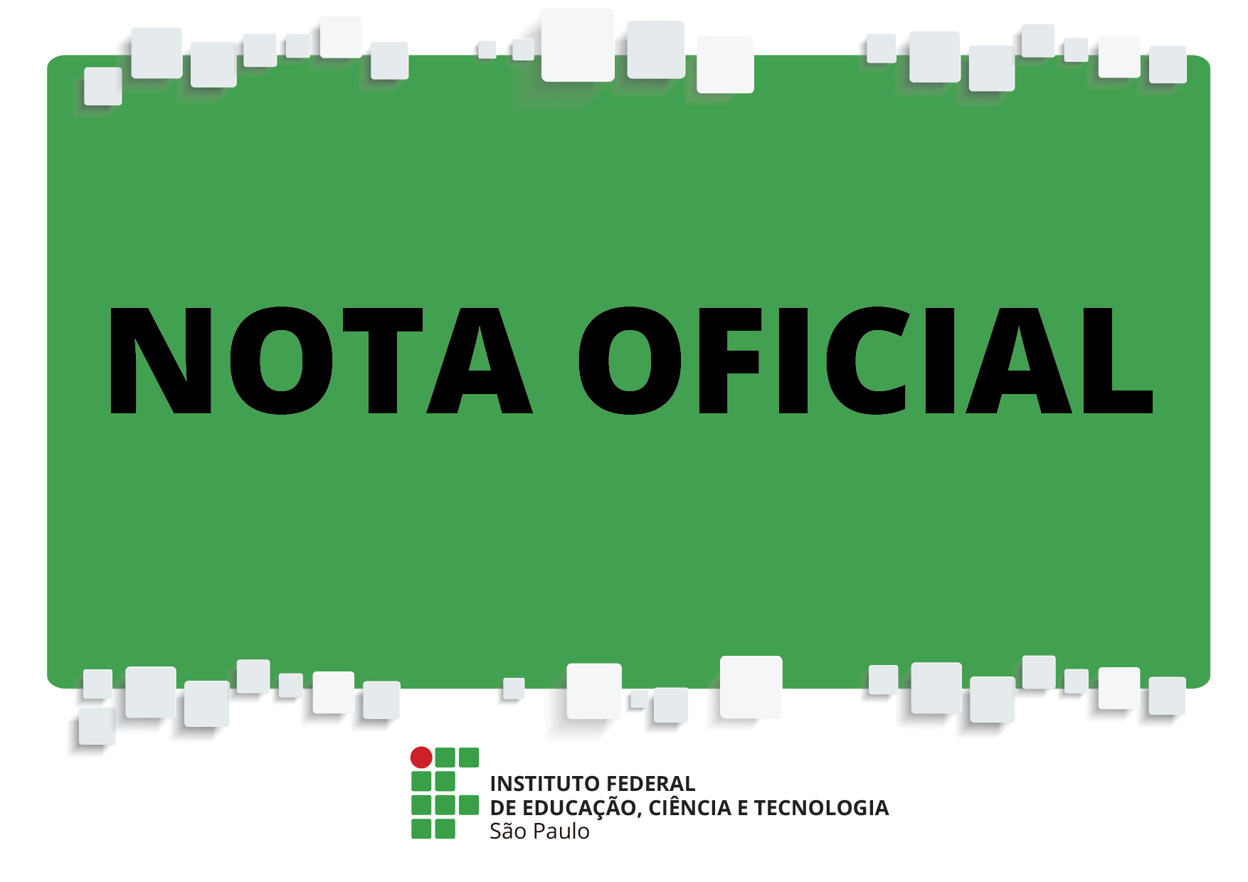 COMUNICADO A TODA COMUNIDADE DO IFSP